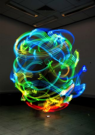 Swirling Lights Depict Personal Hotspot