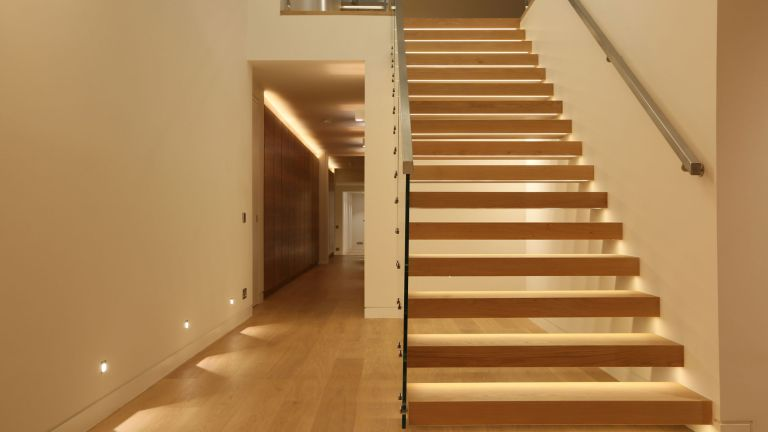 staircase lighting in hallway