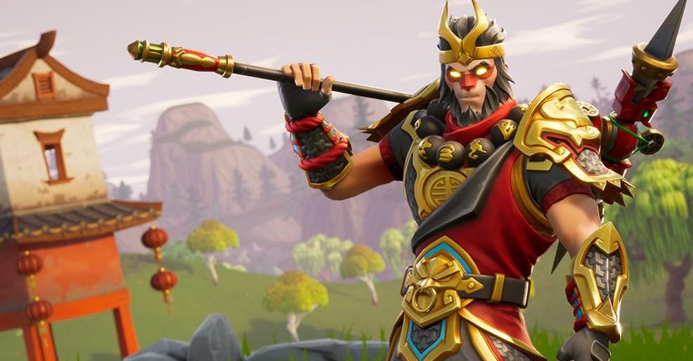 A Fortnite skin of Wukong, the monkey king