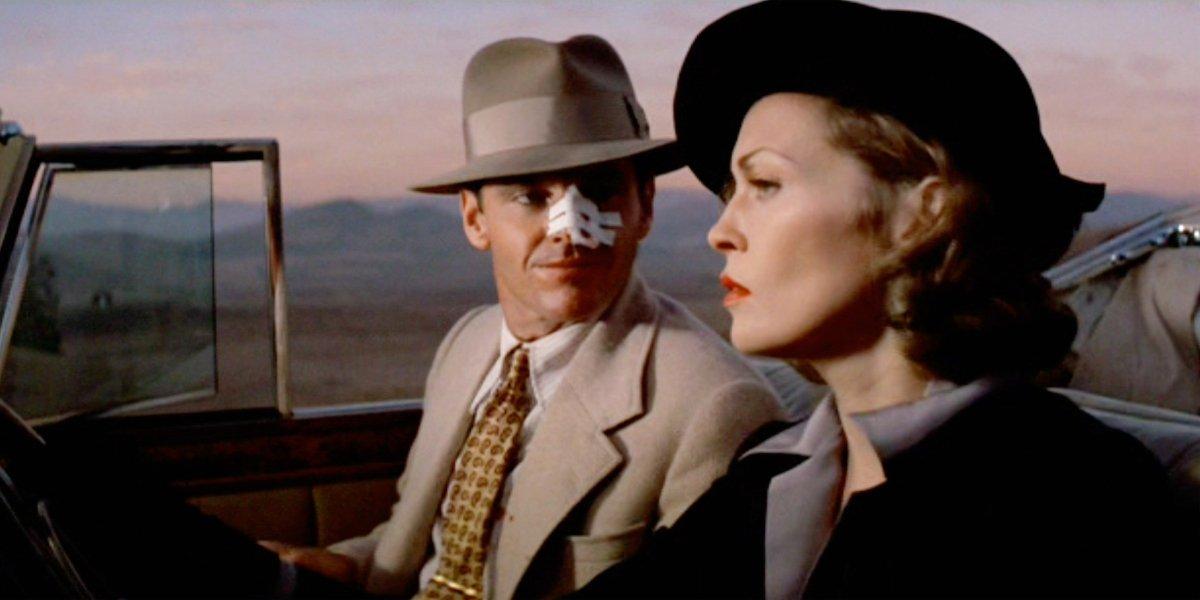 Jack Nicholson and Faye Dunaway in Chinatown