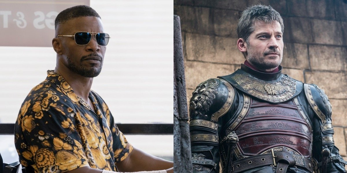 Jamie Foxx in Project Power and Nikolaj Coster-Waldau in Game of Thrones