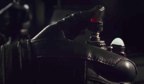 Kylo Ren's finger on the trigger