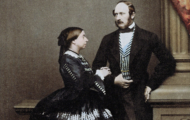 Queen Victoria and Albert, the Prince Consort in 1861