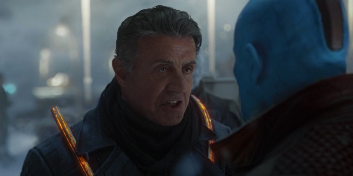Sylvester Stallone in Guardians 2