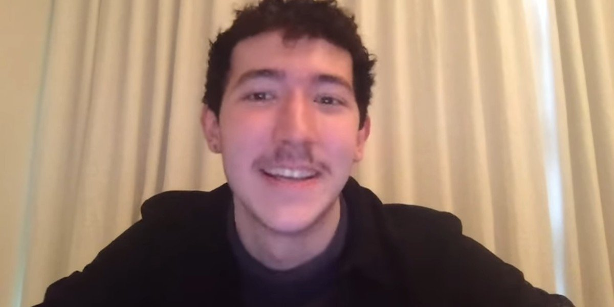 Frankie Jonas being interviewed on the Zach Sang Show