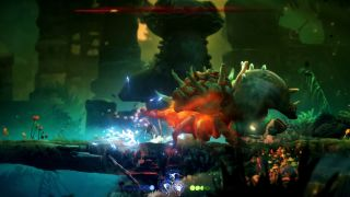 Ori Will Wisps Horn Beetle boss fight attack melee
