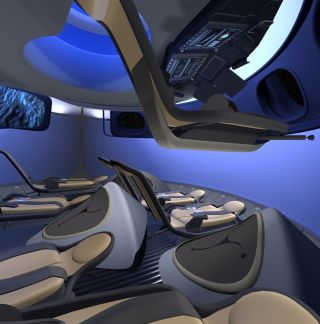 Interior of Crew Space Transportation Capsule