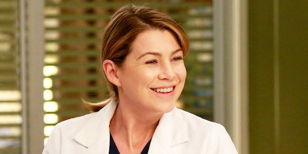 Meredith smiling in the hospital
