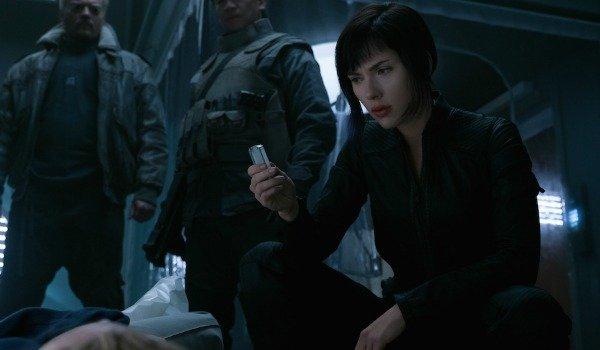Scarlett Johansson holding a USB