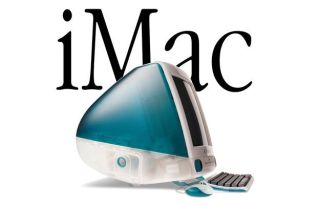 Side view of Apple iMac