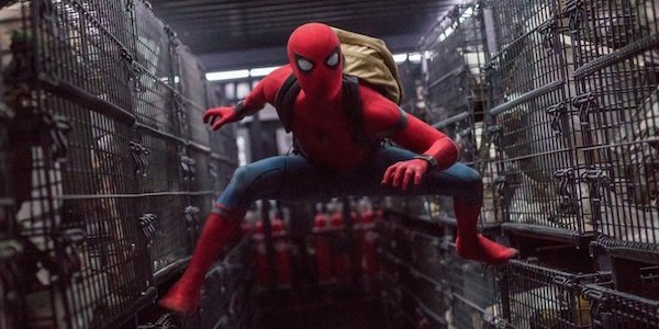 Costumed Spider-Man in Homecoming