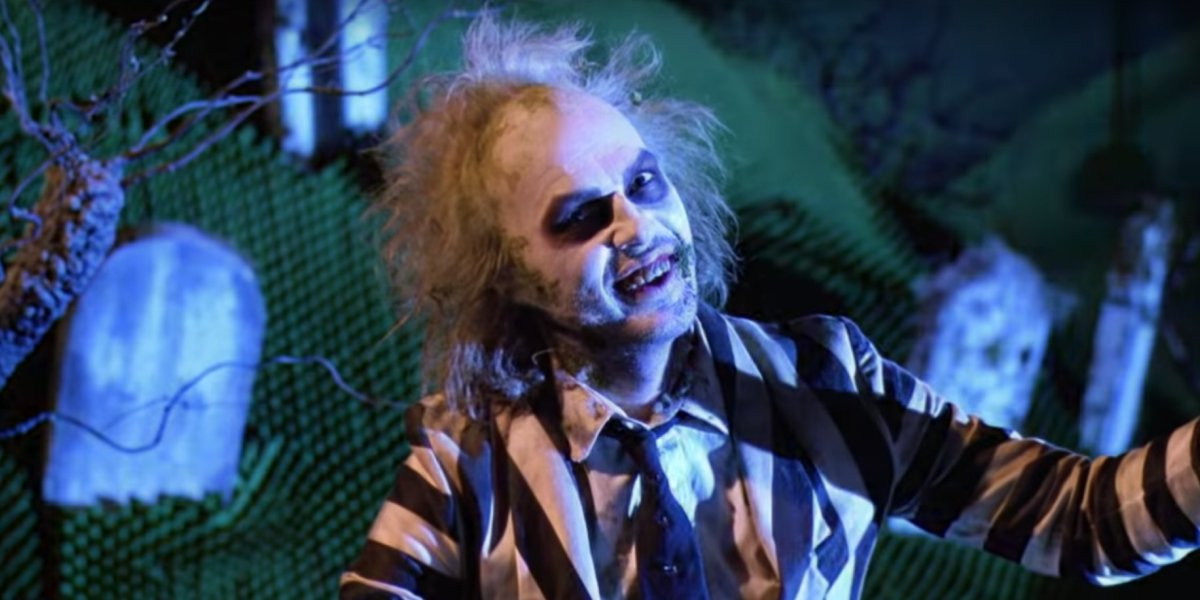 Michael Keaton as the titular bio-exorcist of Beetlejuice