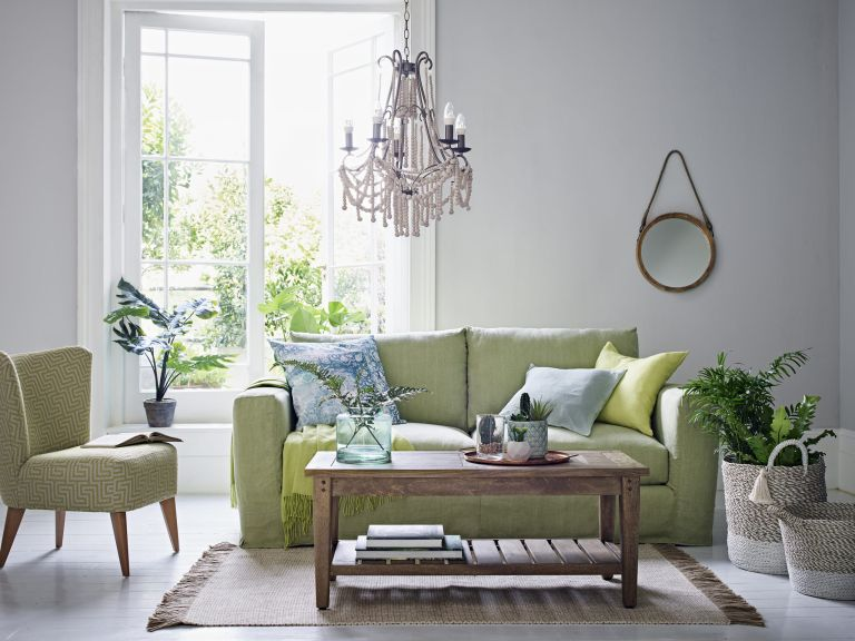 Sage green home colour trend: living room