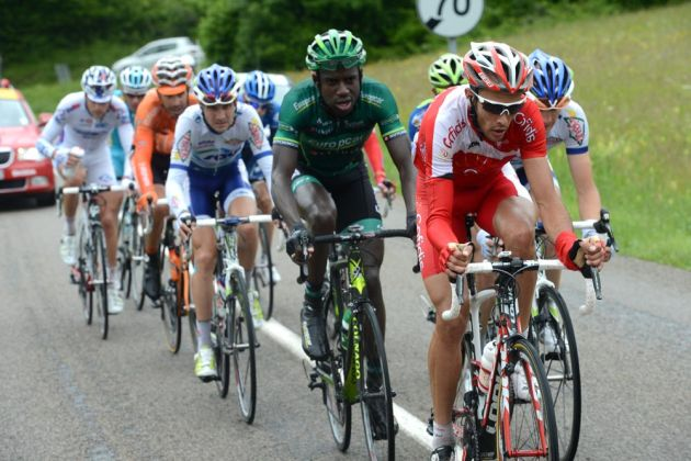 Di Gregorio escape, Criterium du Dauphine 2012, stage five