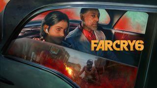 Far Cry 6-Werbegrafik mit dem Bösewicht Anton Castillo und seinem Sohn Diego