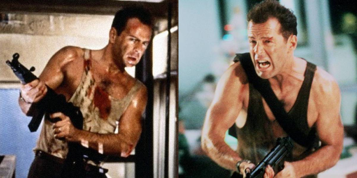John McClane and his color-changing shirt from Die Hard