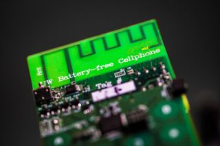 The newly developed battery-free cellphone can send and receive calls using only a few microwatts of power.