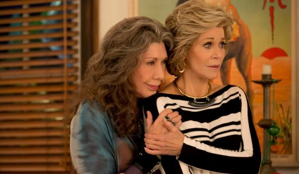 Grace and Frankie Grace Frankie Surprised