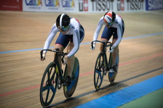 Photo: The test event for mixed-gender track cycling races was held in Aigle, Switzerland.