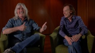 Cliff Williams and Angus Young