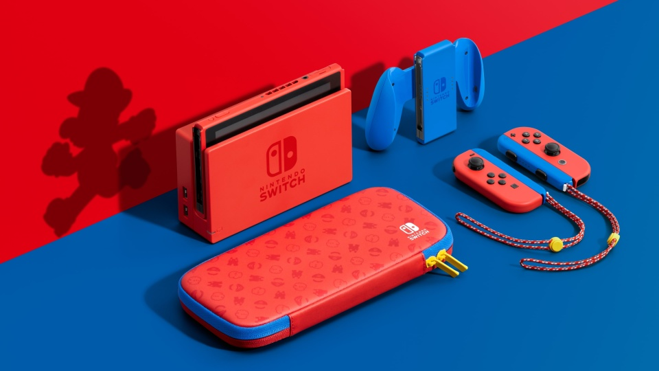 Nintendo Switch Mario red and blue pre-order