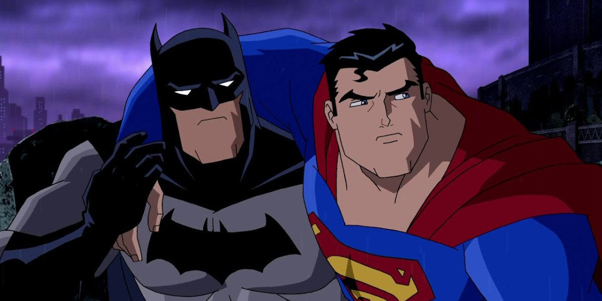 Kevin Conroy and Tim Daly in Superman/Batman: Public Enemies