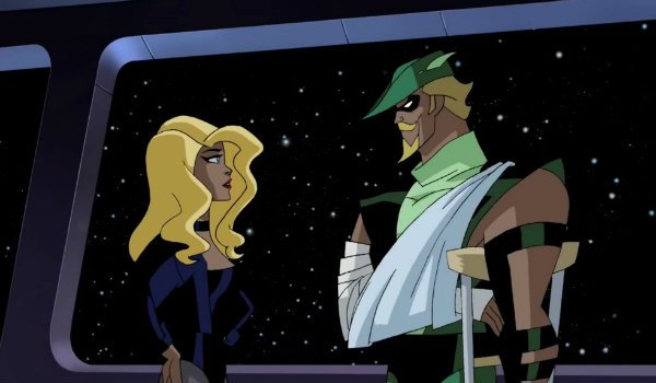 Justie League Unlimited Black Canary Green Arrow