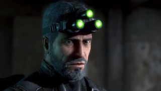 Sam Fisher looking pensive in Ghost Recon Wildlands.