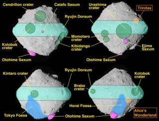 Maps of the asteroid Ryugu