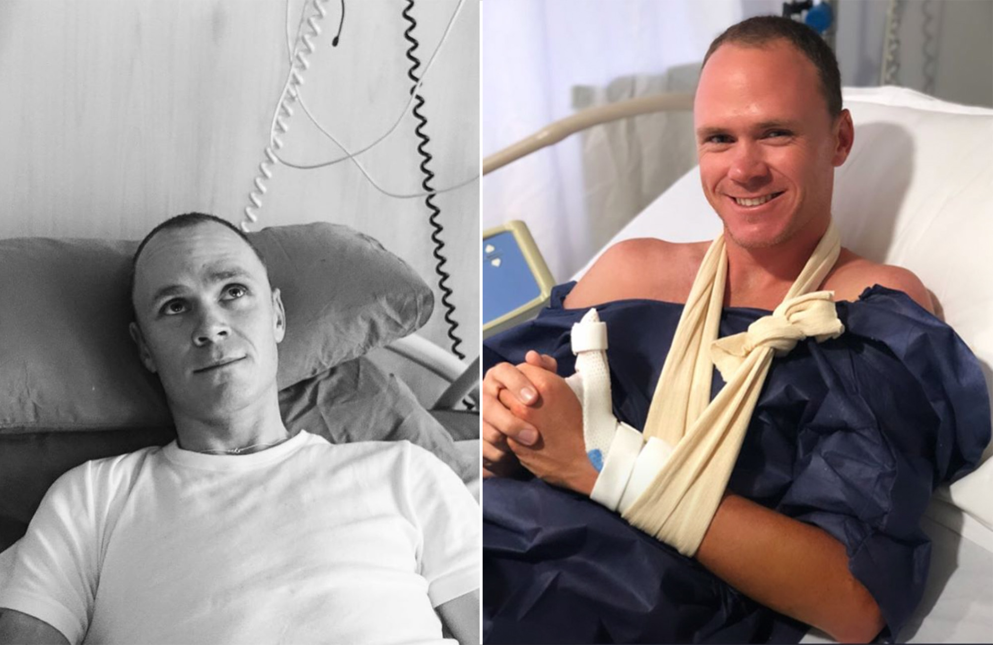 Chris Froome back in hospital following kitchen knife accident