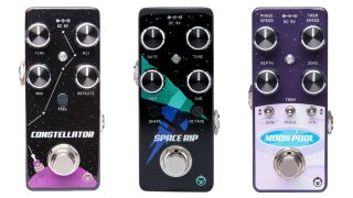 Pigtronix's new Constellator, Space Rip, and Moon Pool mini-pedals