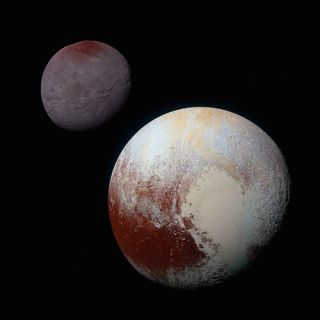 Pluto's dark region