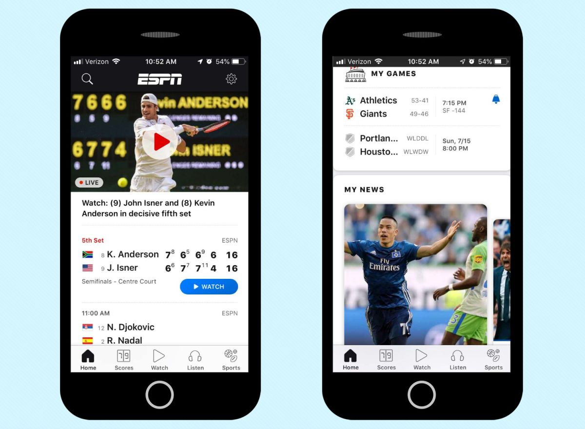 Best Sports Apps 2019 - Free News and Scores for iPhone, Android