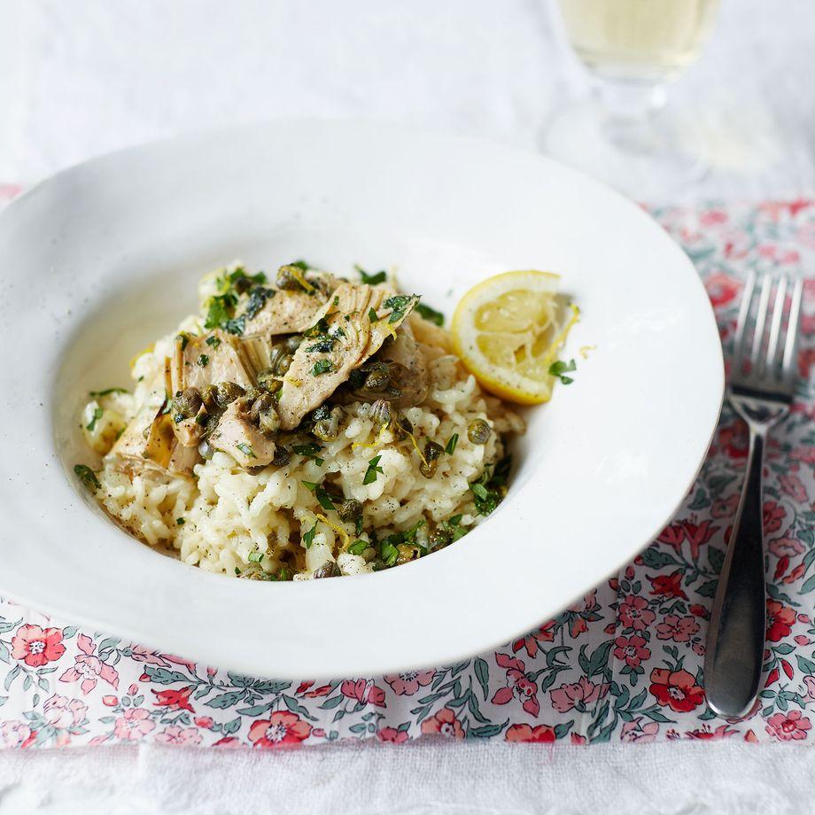 Artichoke, Caper and Lemon Risotto Recipe