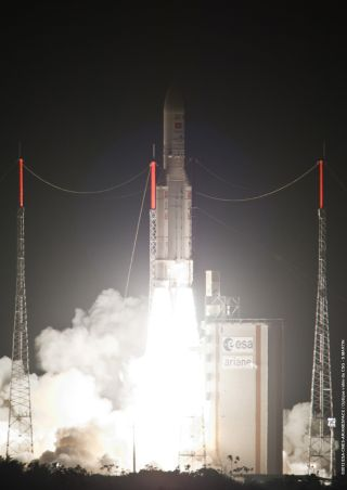 Ariane 5 Rocket Launches 2 Communications Satellites