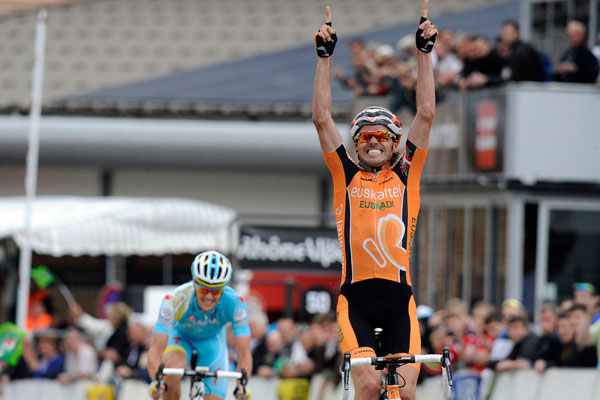 Samuel Sanchez wins, Criterium du Dauphine 2013, stage 7