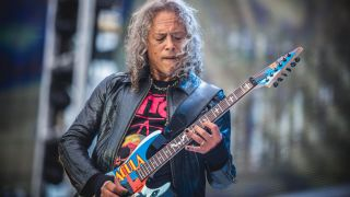 Kirk Hammett of Metallica performs live