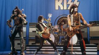 Kiss live on stage in 1981