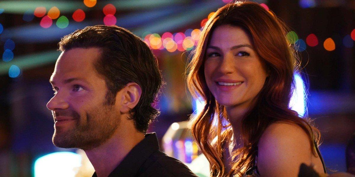 Cordell (Jared Padalecki) and Emily Walker enjoy a party in Walker (2021)