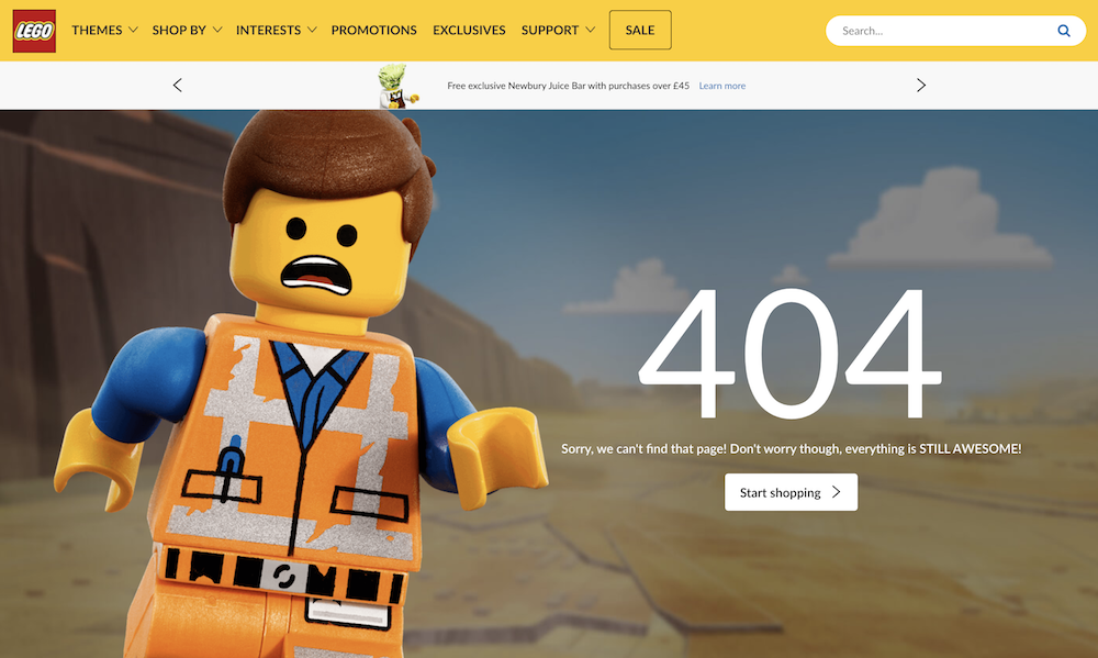 404 page: Lego