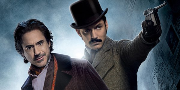 Robert Downey Jr. and Jude Law in Sherlock Holmes: A Game of Shadows