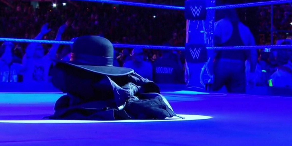 The Undertaker after leaving his gear in the ring at WrestleMania 33