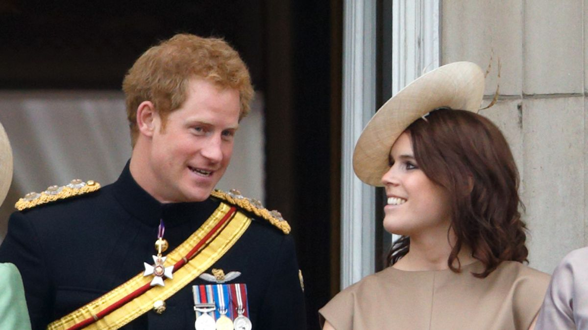 Prince Harry is staying with cousin and her new son ahead of Prince Philip's funeral