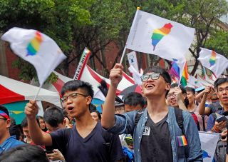 Taiwan same-sex marriage supporters