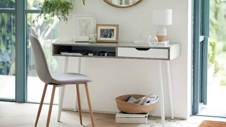 Working from home: Argos Home Concrete Style Office Desk