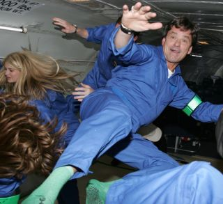 Alan Ladwig on a Zero Gravity Corporation flight to experience weightlessness, however brief, on a modified jet.