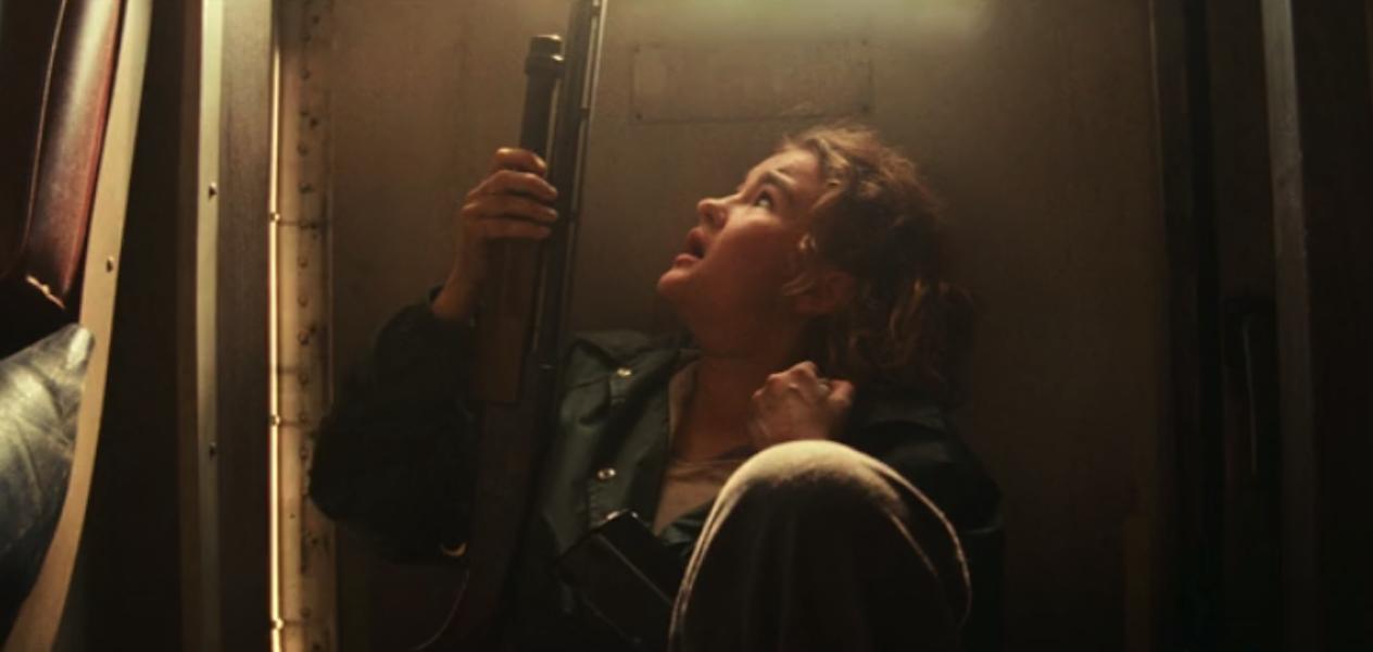 Millicent Simmonds as Regan with a gun in Quiet Place Part II