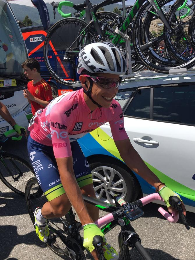 Esteban Chaves at the start of stage 20