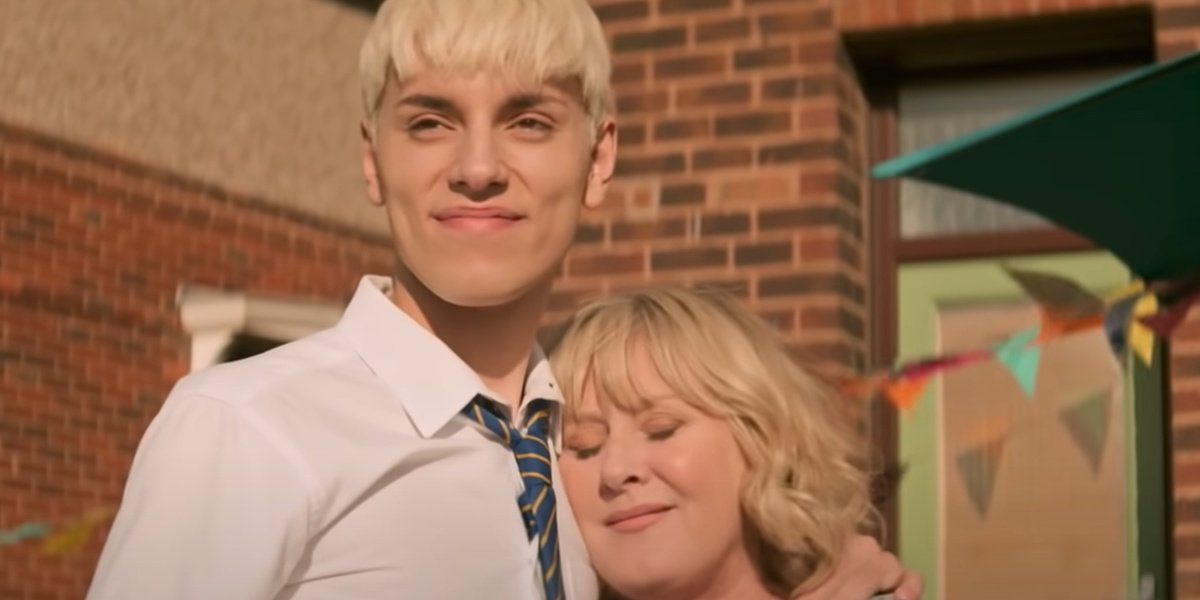 Jamie with his mother in the trailer for Everybody's Talking About Jamie.