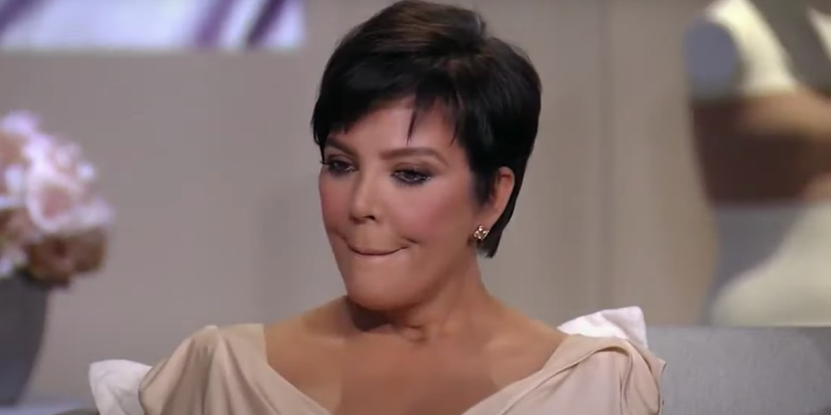 Kris Jenner looking uncomfortable KUWTK reunion
